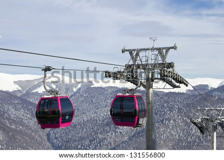 Cable Cars - stock photo