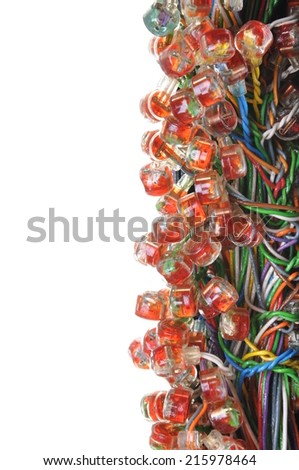 Cable connection - stock photo