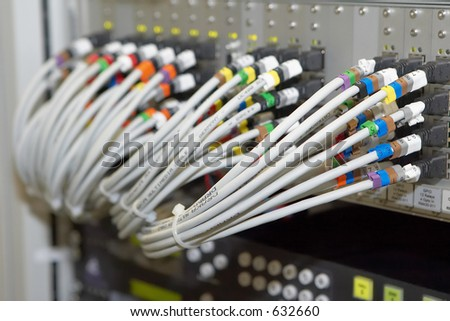Cable connections on electronic equipment
