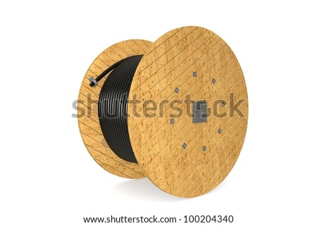 Cable drum - stock photo