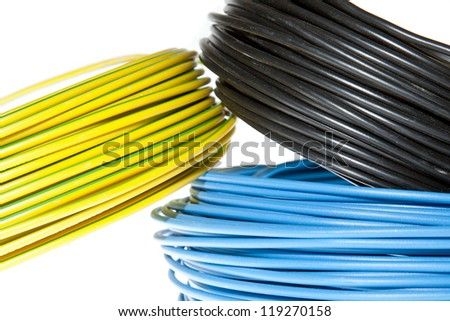 Cable reels - stock photo
