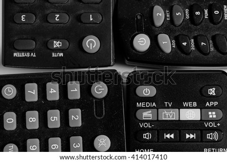 Cable Remote Control Isolated on White Background
