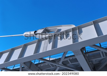 cable-stayed pipeline  - stock photo