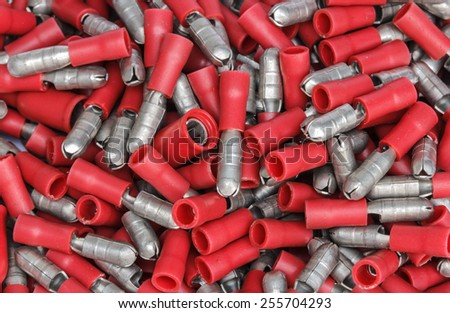 Cable terminals isolated on a white background