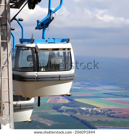 Cable way to Manara Cliff is longest cable car in Israel. The site is attractive tourists activities center on the north of Israel.