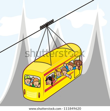cableway - stock photo