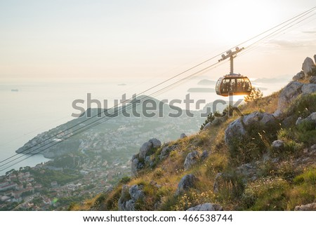 cableway above Dubrovnik