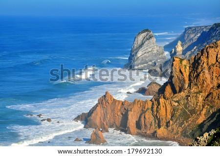 Cabo da Roca, Cascais, Portugal - stock photo