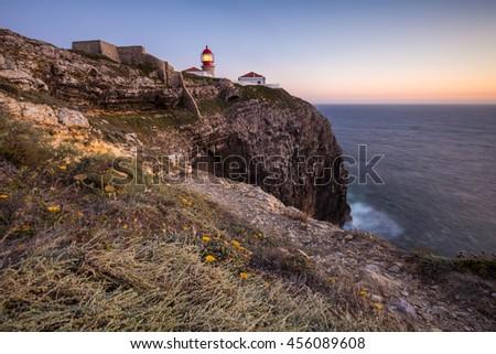 Cabo Sao Vicente, Portugal - stock photo