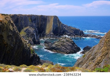 Cabo Sardao coast  - stock photo