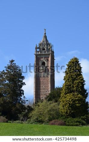 Cabot Tower, Bristol, England - stock photo