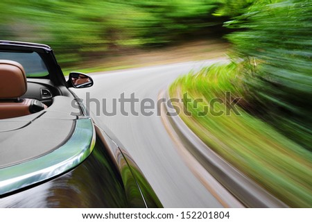 Cabriolet drive - stock photo