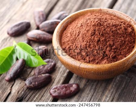 Cacao powder - stock photo