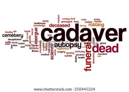 Cadaver word cloud concept - stock photo