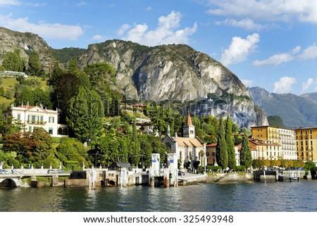 Cadennabia town lake Como Italy. - stock photo