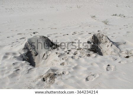 cadzand beach - stock photo