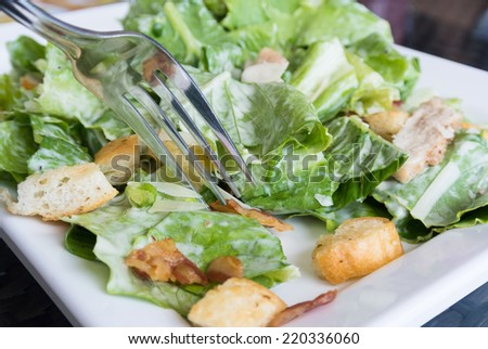 caesar salad - stock photo