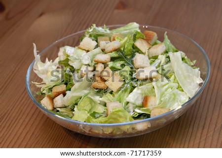 Caesar Salad, healthy with chicken and parmesan