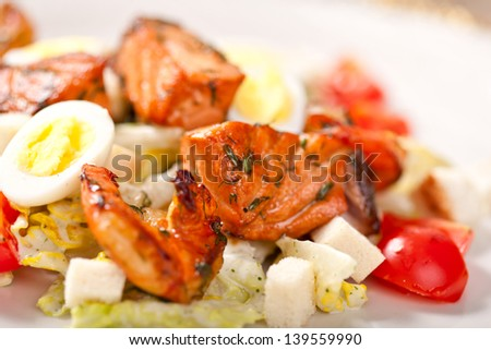 Caesar salad with seafood