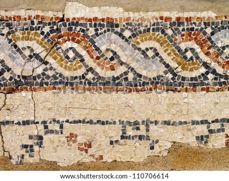 Caesarea Maritima - Mosaic - stock photo