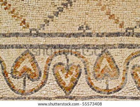 Caesarea Mosaic, photo was taken in Israel - stock photo
