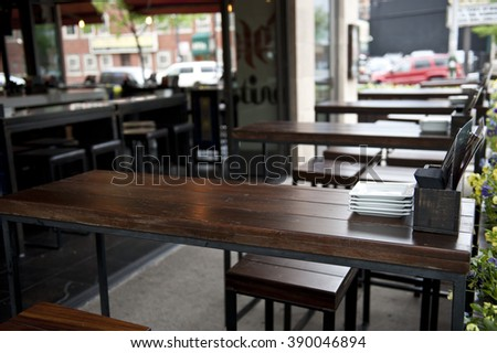 Cafe and Restaurant - stock photo