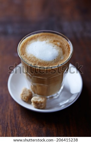 Cafe au Lait with Brown Sugar - stock photo