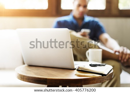 Cafe Coffee Casual Communication Internet Concept - stock photo