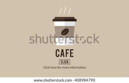 Cafe Coffee Culture Cappuccino Coffee Beans Concept - stock photo