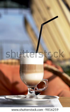 Cafe Coffee Latte in a glass