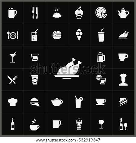 cafe icons universal set for web and mobile