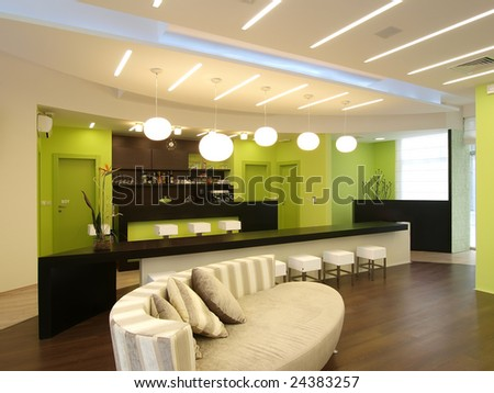 cafe interior - stock photo