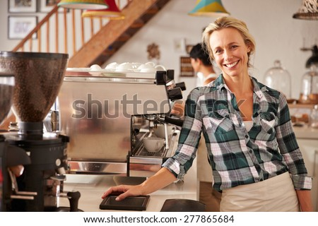 Cafe staff at work - stock photo