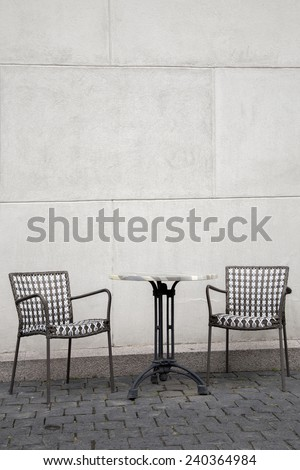 Cafe Table and Chair