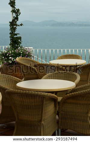 Cafe with sea view