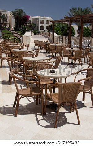 Cafeteria Outdoor Cafe Tables Chairs Outdoor Stock Photo Edit Now - Outdoor cafe style table and chairs