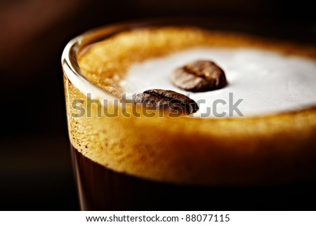 Caffe Macchiato - stock photo