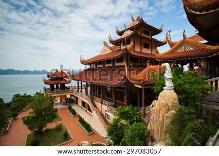 Cai Bau pagoda in Quang Ninh province, Vietnam
