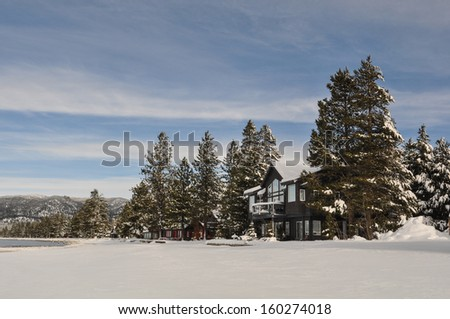 Cain Covered in Snow - stock photo