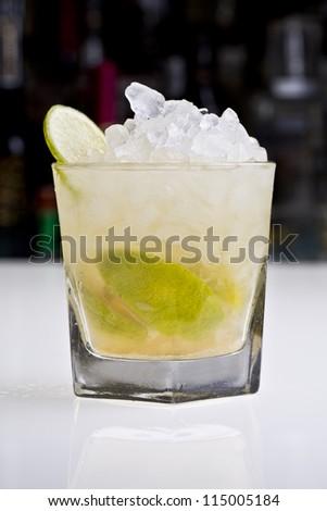 caipirinha classic cocktail or drink - stock photo