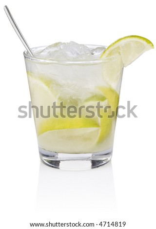 Caipiroska Cocktail - isolated on white