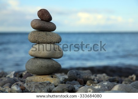 cairn at the beach, baltic sea, germany