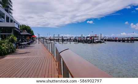 Cairns Australia  pier boadwalk popular tourist walk