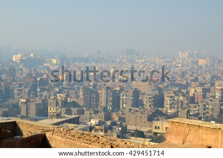 Cairo city in Egypt, megalopolis - stock photo