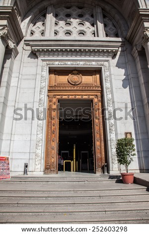 CAIRO, EGYPT - JAN 31, 2015: The Egyptian Museum in Cairo, one of the most famous museums of the world