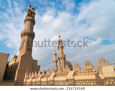 CAIRO, EGYPT - JANUARY 1, 2009: Mohamed Ali Mosque of the Saladin Citadel of Cairo, Egypt.