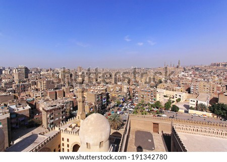 CAIRO, EGYPT - MARCH 02: Cairo Cityscape on MARCH 02, 2010. Residential district cityscape at sunny afternoon in Cairo, Egypt.