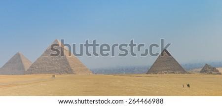 Cairo - Pyramids at Giza, Egypt - stock photo