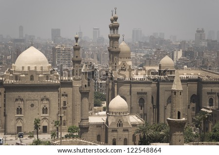 Cairo View from Citadel - stock photo