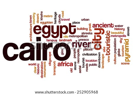Cairo word cloud concept - stock photo